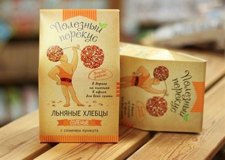 Хлебцы Льняные ™  Полезный перекус  с кунжутом, 100 гр. - фото 7187