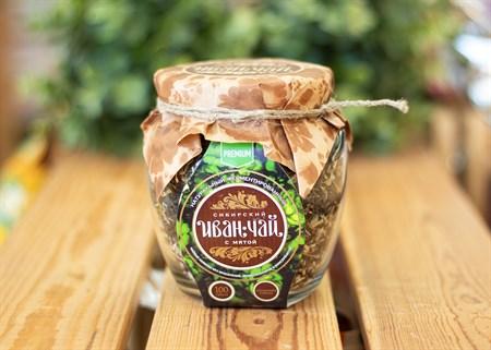 Иван-Чай ™  Сибирский Иван-чай  листовой с мятой, банка 100г - фото 7241