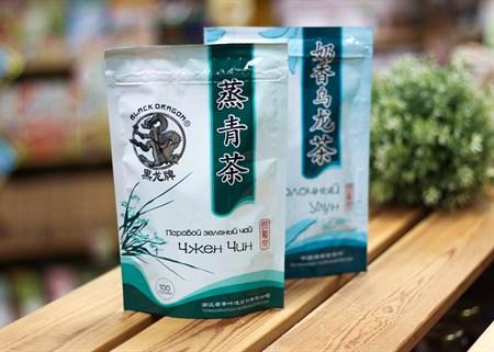Чай ™  Черный дракон  Паровой зелёный 100г - фото 7259
