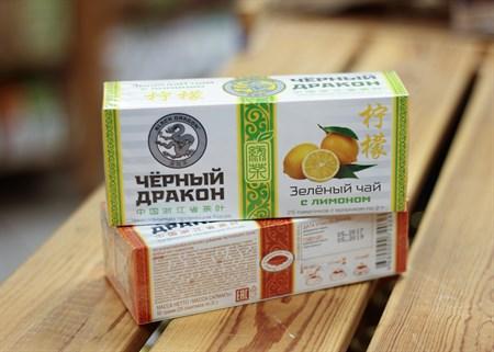 Черный дракон Зелёный чай с лимоном пакет 2г*25п - фото 7263