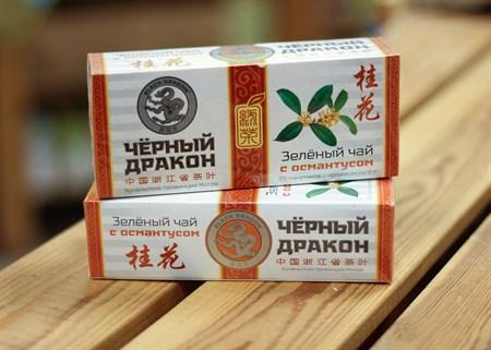Чай ™  Черный дракон  Зелёный с османтусом пакет 2г*25п - фото 7267