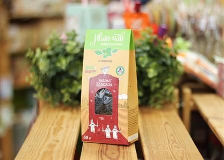Иван-чай ™  Мама Карелия  с мятой перечной 50 гр. КАРТОН - фото 7409