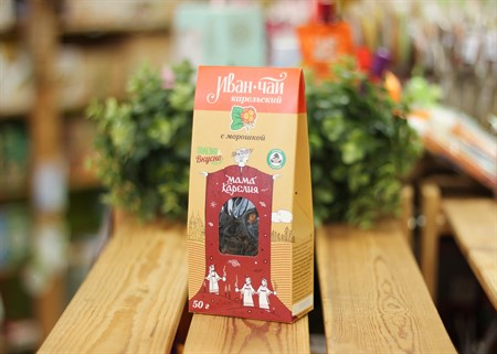 Иван-чай ™  Мама Карелия  с ягодами и чашелистиками морошки 50 гр. КАРТОН - фото 7414