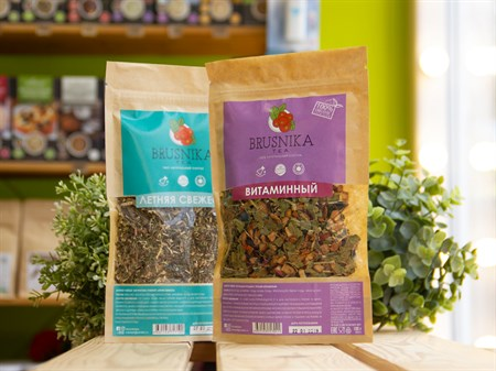 Чай плодово-ягодный ™ BRUSNIKA TEA Витаминный 100 гр. - фото 7432