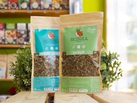 Чай травяной ™  BRUSNIKA TEA  Мятный 70 гр. - фото 7433