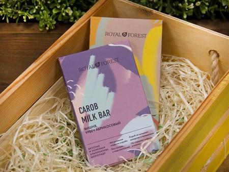 Шоколад ™  Роял Форест  CAROB MILK BAR Вишня,урбеч абрикосовый  50 г. - фото 7469