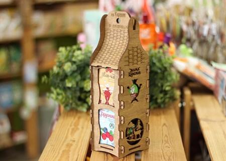 Подарочная шкатулка ™  Мама Карелия  Варенье брусника с черникой и Иван-чай с брусникой - фото 7595