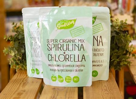 Спирулина + хлорелла супер органик микс™  Good Way  в таблетках, 100 гр. - фото 7764