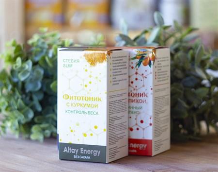 Растительные сиропы ™  Altay Energy  Фитотоник Стевия Slim с куркумой  КОНТРОЛЬ ВЕСА 250 мл. - фото 7813