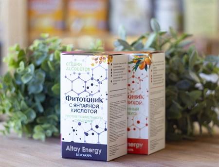 Растительные сиропы ™  Altay Energy  Фитотоник Стевия AlcoDetox ПРОТИВ ПОХМЕЛЬНОГО СИНДРОМА 250 мл - фото 7814