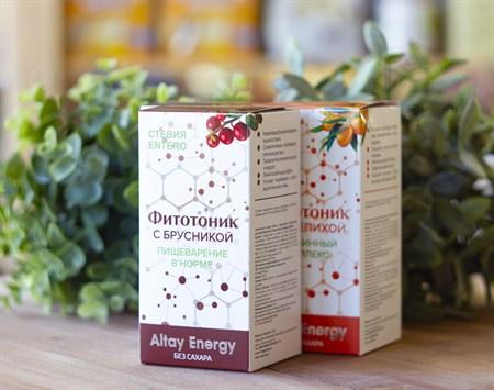 Растительные сиропы ™  Altay Energy  Фитотоник Стевия Entero с брусникой ПИЩЕВАРЕНИЕ В НОРМЕ 250 мл - фото 7815