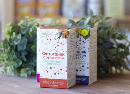 Растительные сиропы ™  Altay Energy  Фитотоник Стевия Vita с облепихой  ВИТАМИННЫЙ КОМПЛЕКС  250 мл. - фото 7816