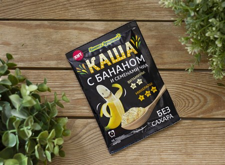 Каша заварная овсяная™  Компас Здоровья  с бананом и семенами чиа 30 гр. - фото 7863