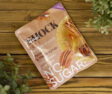 Печенье протеиновое NUT ™  Shoсk Fitnes  Peкan Maple syrup ( Пекан- Кленовый сироп) 40 гр - фото 7919