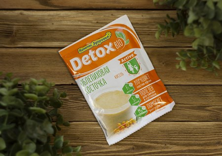 Кисель овсяно-льняной™  Компас Здоровья  на фруктозе detox bio ACTIVE облепиховая косточка 25 гр - фото 7942