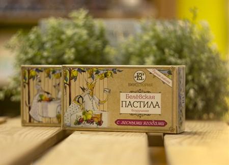 Пастила белевская воздушная™  ВКУССТОРИЯ  с лесными ягодами 100 гр. - фото 7993