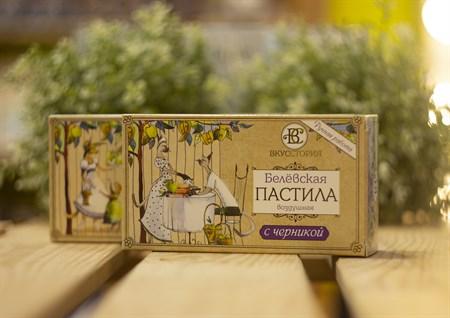Пастила белевская воздушная™  ВКУССТОРИЯ  с черникой 100 гр. - фото 7994