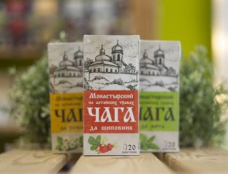 Травяной сбор ™ Chagoff   Монастырский  на алтайских травах  Чага да шиповник  30 гр. - фото 8020