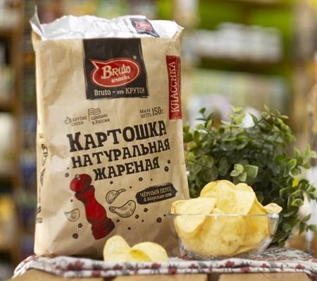 Чипсы картофельные ™  Bruto snacks  Чёрный перец 150 гр. - фото 8063