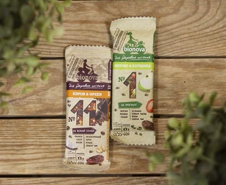 Батончики ™  Bionova  фруктово-ореховый с кэробом и орехами 35 гр. - фото 8242