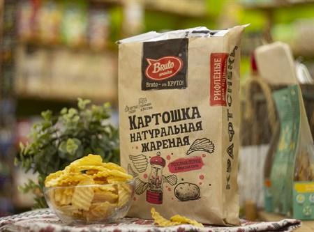 Чипсы картофельные ™  Bruto snacks  Розовый перец 70 гр. - фото 8249
