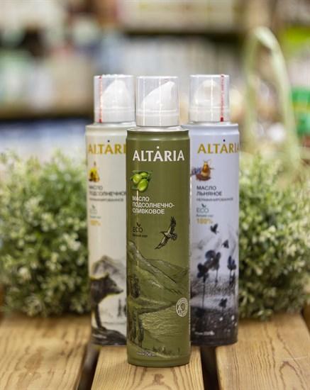 Масло аэрозоль ™   ALTARIA  подсолнечно-оливковое НЕрафинированное 250 мл - фото 8288