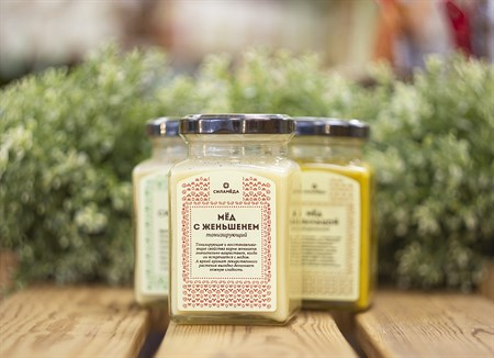 Мед ™   Мусихин. Мир меда  с женьшенем 300 гр - фото 8332