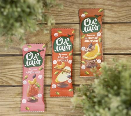 Батончики ™  Ол Лайт  фруктово-ореховый Шоколадный с апельсином, 30 гр. - фото 8352
