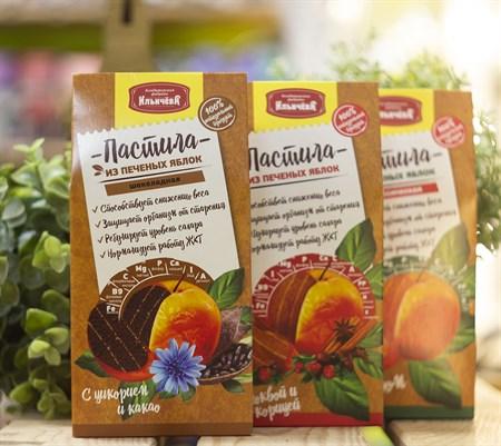 Пастила яблочная™  Кондитеская фабрика Ильичёва  с цикорием и какао  90 гр - фото 8425