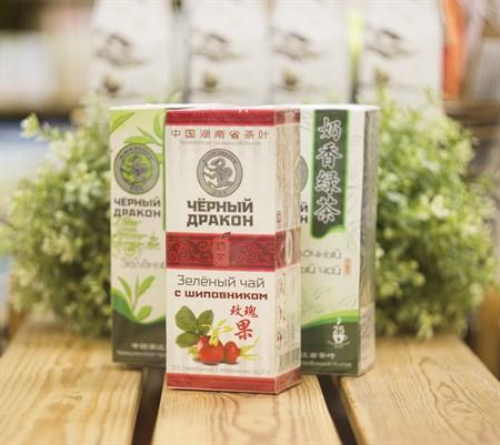 Чай ™  Черный дракон  Зелёный шиповник пакет 2г*25п - фото 8465