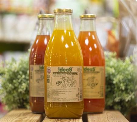 Сок ™  IDEAS  абрикос-облепиха-лимон-имбирь-мята,1л. - фото 8476