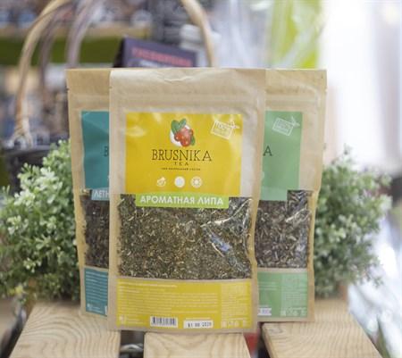Чай цветочно-травяной ™  BRUSNIKA TEA  Ароматная липа 100 гр. - фото 8630