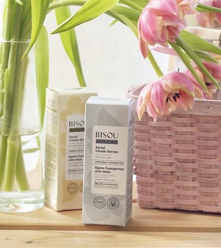 Крем-сыворотка для лица ™  BISOU antiAGE BIO  Мультивитамин молодости для всех типов кожи, 50 мл - фото 8677