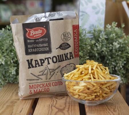 Соломка картофельная ™  Bruto snacks  Соль 90 гр. - фото 8684