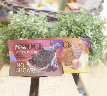 Маффин протеиновый  ™  FitnesShock  Chocolate cherry  Шоколад-вишня  40 гр - фото 8741