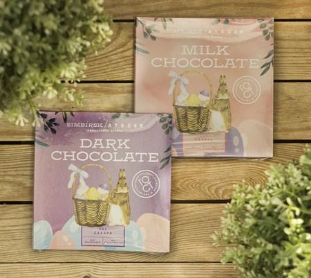 Шоколадный набор ™  SIMBIRSK ateler  Тёмный без сахара 5 гр * 9 шт - фото 8834