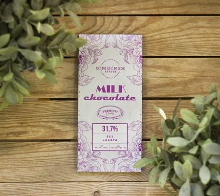 Шоколад молочный ™  SIMBIRSK ateler   Ретро  без сахара 100 гр. - фото 8873