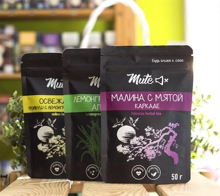 Чай ™  MUTE  Каркаде малина с мятой, 50 г - фото 8928