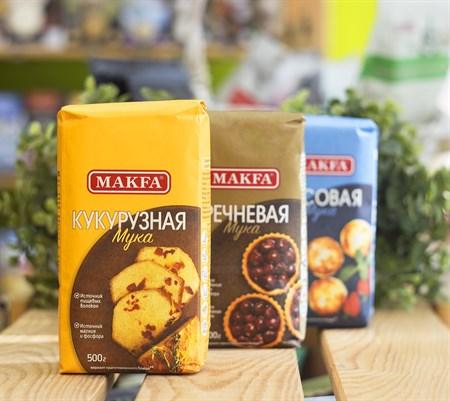 Мука ™  MAKFA  кукурузная, 500 г - фото 8947