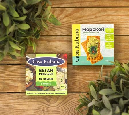 Паста ореховая ™  Casa Kubana  Крем - чиз с зеленью, 110 г - фото 8954