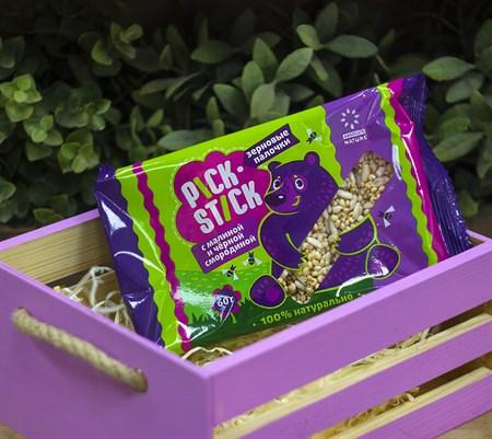 Зерновые палочки ™   Absolute Nature  Pick - Stick с малиной и чёрной смородиной, 60 гр - фото 8972