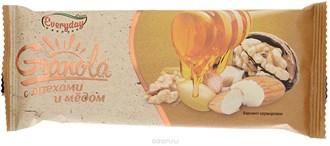 Батончик-мюсли EVERYDAYзлаковые GRANOLA с орехом и медом 50 гр.