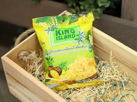 Кокосовые чипсы  ™  KING ISLAND  с ананасом ,40 гр.