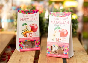 Мармелад ™  Живые Снеки  яблочный 90 гр