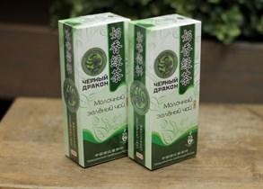 Чай ™  Черный дракон  Молочный зелёный пакет 2г*25п