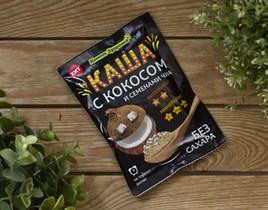 Каша заварная овсяная™  Компас Здоровья  с кокосом и семенами чиа 30 гр.