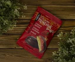 Печенье протеиновое ™  Ё батон   20 % белка со вкусом КЛУБНИКИ с белковым суфле в глазури 50 гр