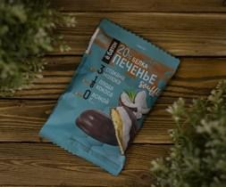 Печенье протеиновое ™  Ё батон   20 % белка со вкусом КОКОСА с белковым суфле в глазури 50 гр