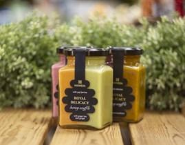 Мед-суфле ™   Мусихин. Мир меда  с зеленым чаем матча и имбирем, с ягодами годжи 340 гр