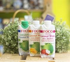 Кокосовая вода ™  FOCO  с соком личи 330 мл